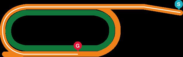 盛岡(左)1600mコース