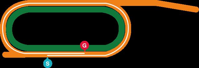 盛岡(左)1800mコース