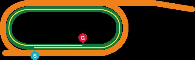 盛岡(左)1700mコース