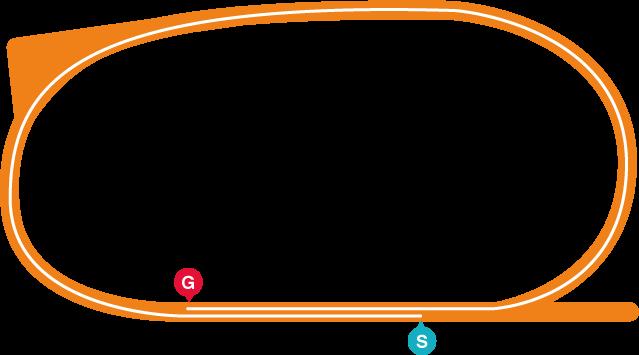 園田(右)1230mコース