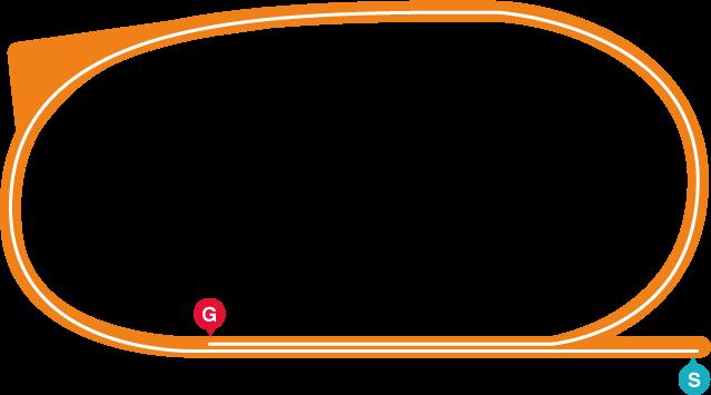 園田(右)1400mコース
