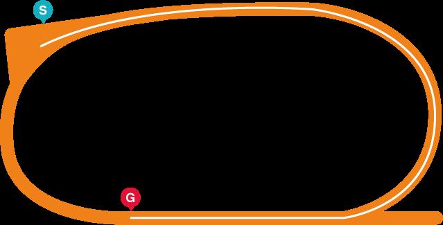 園田(右)820mコース