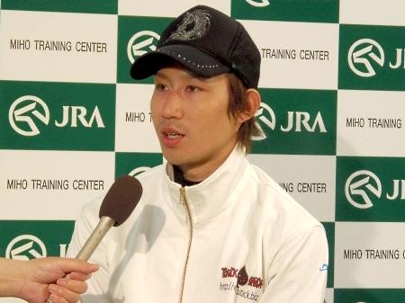 「強い馬が嫌だなと思うようなレースをしたい」と語ったトウショウドラフタの田辺騎手(撮影:佐々木祥恵)