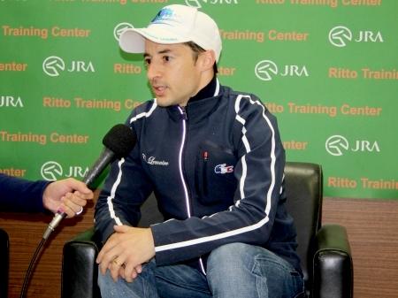 「ソウルスターリングはチャンピオンホースです」と語ったルメール騎手(撮影:花岡貴子)
