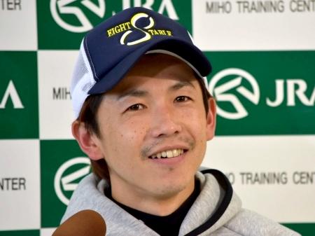 「自分の描いてきた競馬をできるよう頑張りたい」と語ったウインブライトの松岡騎手(撮影:佐々木祥恵)