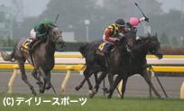 激戦のオークスを制したエリンコート(中)=東京競馬場