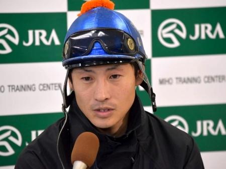「強い馬が多いですね。一発狙いたいと思います」と語ったウキヨノカゼの吉田隼人騎手(撮影:佐々木祥恵)