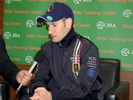 「GIはみんなライバルですね」と語ったクイーンズリングのM.デムーロ騎手(撮影:花岡貴子)