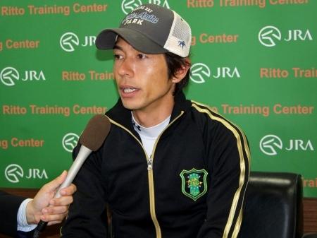 「馬の力を信じていきたいと思います」と語ったモズカッチャンの和田騎手(撮影:花岡貴子)