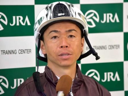 「騎手になったからには掴みたいタイトルです」と語ったダイワキャグニーの北村宏司騎手(撮影:佐々木祥恵)