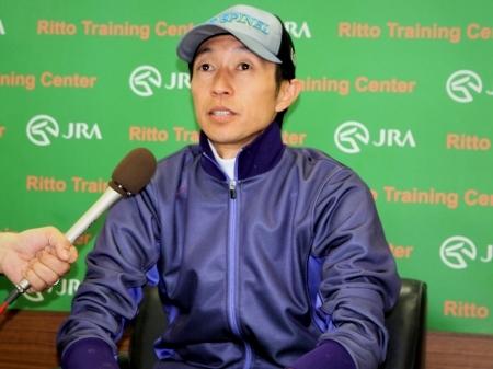 「エアスピネルとGIを勝ちたいという気持ちは強いです」と語った武豊騎手(撮影:花岡貴子)