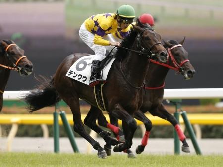 東京5Rで道中2番手から抜け出し勝利したテンクウ(c)netkeiba、撮影:下野雄規