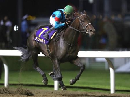 古馬を破っての重賞初制覇を果たした3歳馬アンジュデジール(撮影:高橋正和)