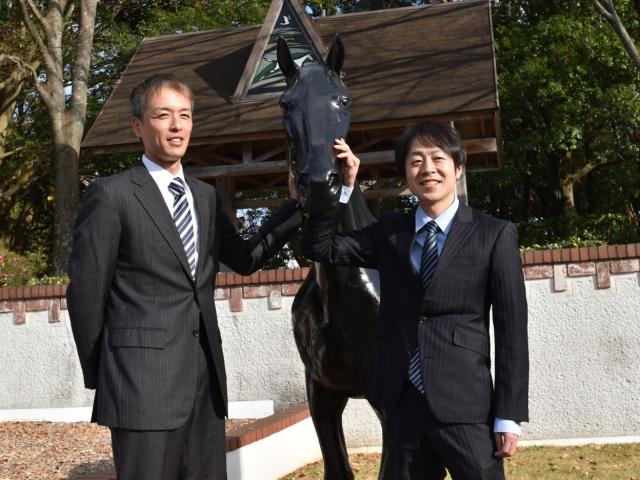 調教師試験に合格した(左から)稲垣幸雄さんと加藤士津八さん(撮影:佐々木祥恵)