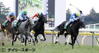 デイリー杯クイーンCを制したヴィルシーナ(右)=東京競馬場