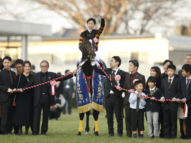 引退レースの有馬記念を制したキタサンブラック(撮影:下野雄規)