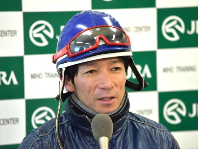 """""""良い感じの追い切りだったので、非常に期待をしています""""と語った内田博幸騎手(撮影:佐々木祥恵)"""