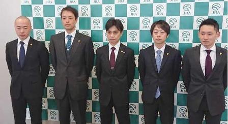 左から石坂公師、稲垣師、上村師、加藤士師、坂口師