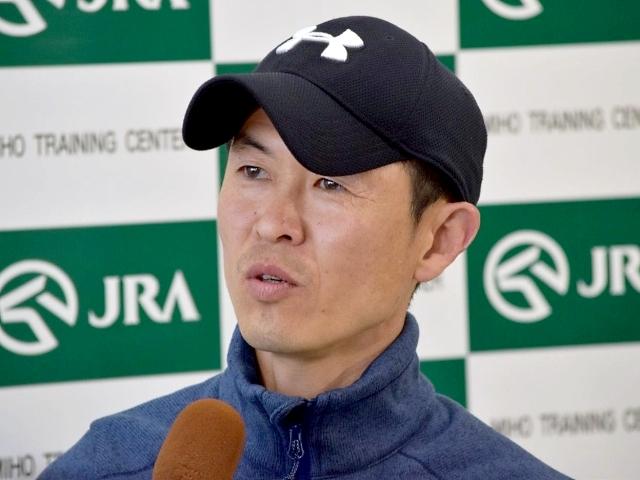 「素晴らしい馬ばかり、参加させて頂いて光栄」と語ったプリモシーンの木村調教師(撮影:佐々木祥恵)