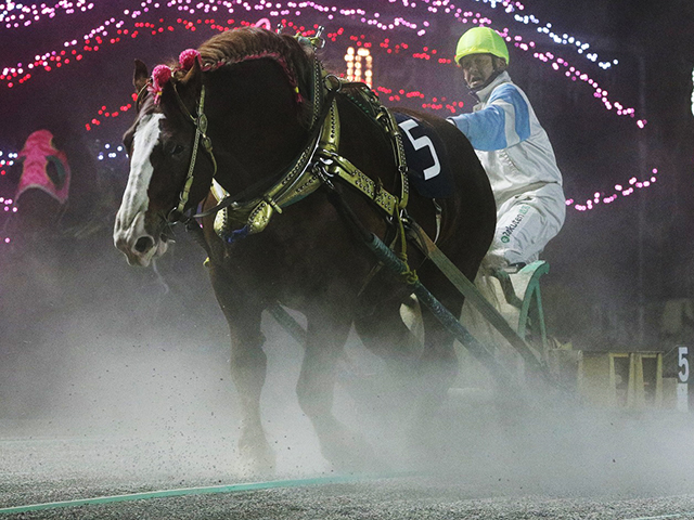 藤本匠騎手騎乗の1番人気コウシュハウンカイが優勝(写真提供:ばんえい十勝)