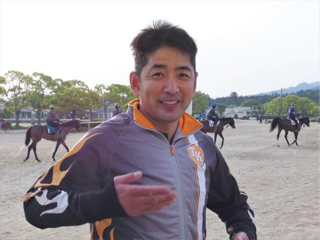笹田和秀厩舎で研修を開始した木村健調教師(撮影:大恵陽子)