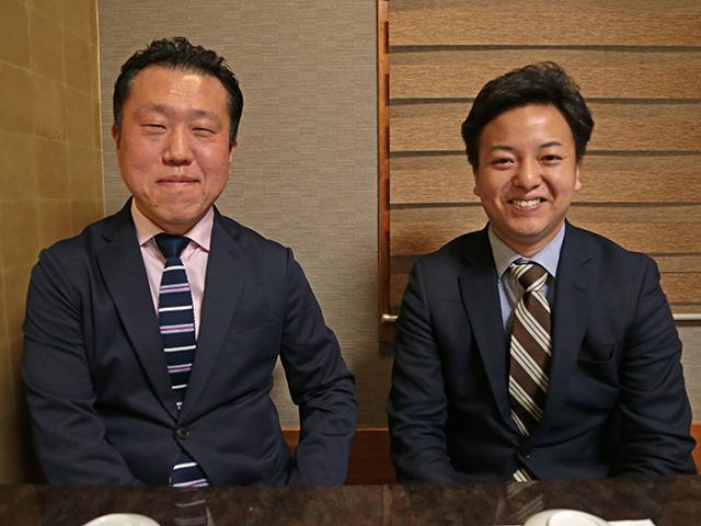 東スポきっての穴党として根強いファンを持つ山河浩記者(左)と、報知の若手ホープとして期待の高い川上大志記者(右)。【netkeiba.com】