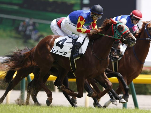 10番人気のレノーアが新馬勝ち(c)netkeiba.com、撮影:下野雄規