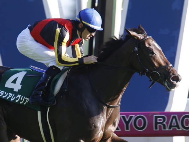 1番人気グランアレグリアが快勝でデビューから2連勝(c)netkeiba.com、撮影:下野雄規