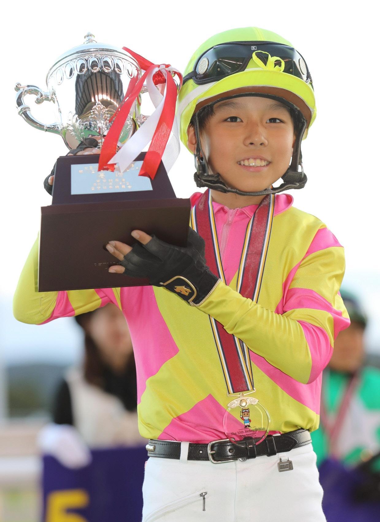 第10回ジョッキーベイビーズで優勝した木村暁琉君