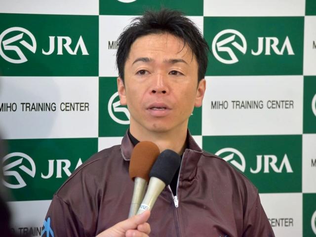 「すごく良い状態でレースに臨めそうです」と語ったプリモシーンの北村宏司騎手(撮影:佐々木祥恵)
