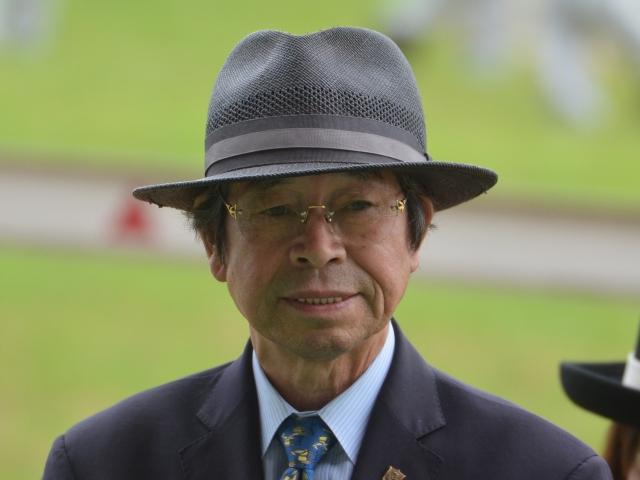 GII馬ウインドフィールズを管理した谷原義明調教師(撮影:2017年6月25日東京競馬場にて)(c)netkeiba.com