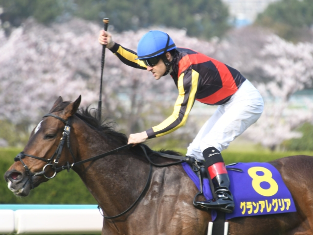 平成最後の桜花賞をレースレコードで優勝した、鞍上のルメール騎手とグランアレグリア