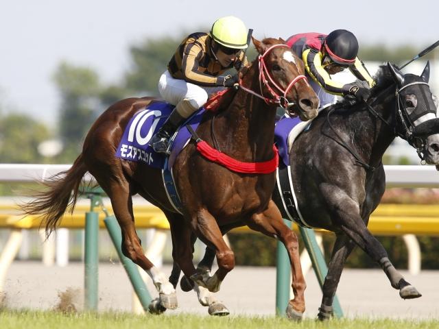 連覇がかかるモズアスコットは坂井騎手と2度目のコンビ(写真は昨年安田記念優勝時、撮影:下野雄規)