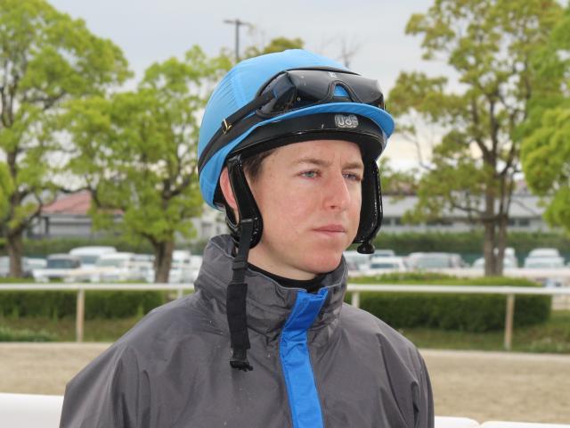 日本ダービーでサートゥルナーリアに騎乗予定のレーン騎手(撮影:花岡貴子)