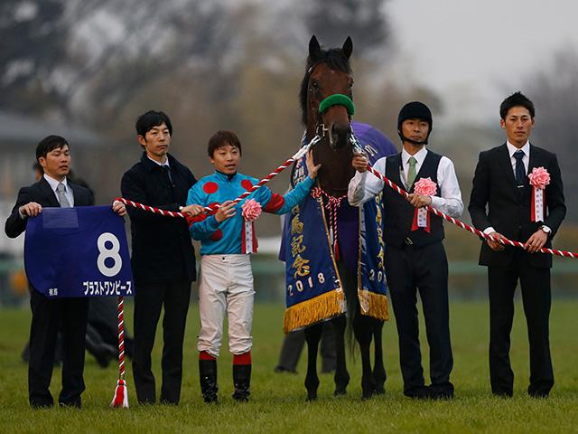 昨年の有馬記念馬ブラストワンピースが再始動(撮影:下野雄規)