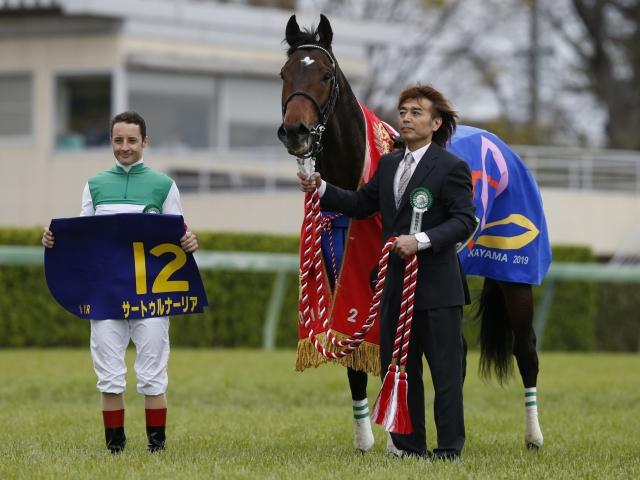 無敗2冠がかかる皐月賞馬サートゥルナーリアは3枠6番からの出走となった(撮影:下野雄規)