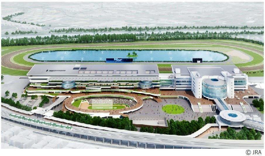 全体的にリニューアルされる京都競馬場