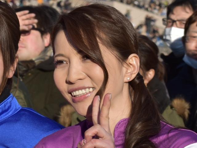 2児の母でありながら、女性騎手の勝利数日本記録を持つ宮下瞳騎手(撮影日は2018年2月12日、(c)netkeiba.com)