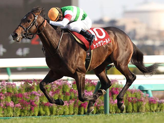 産駒がJRA初勝利を果たしたトゥザワールド(写真は2014年弥生賞優勝時、撮影:下野雄規)