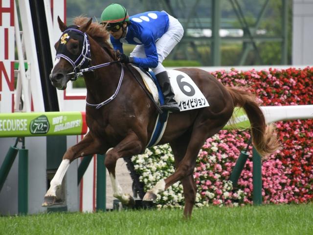 新馬戦では石橋脩騎手とのコンビで快勝したタイセイビジョン