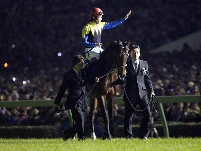 ディープインパクト、2006年有馬記念後の引退式(撮影:下野雄規)