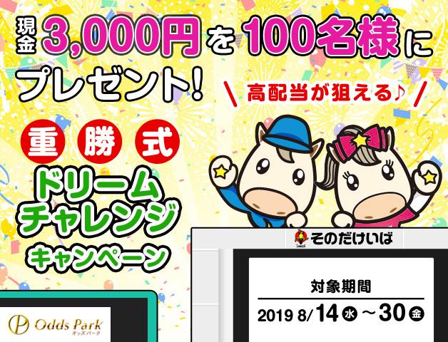 現金3,000円が100名様に当たる!