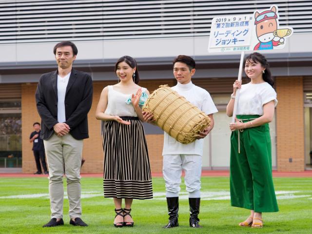 夏の新潟リーディングに輝いた戸崎騎手(c)netkeiba.com、撮影:下野雄規