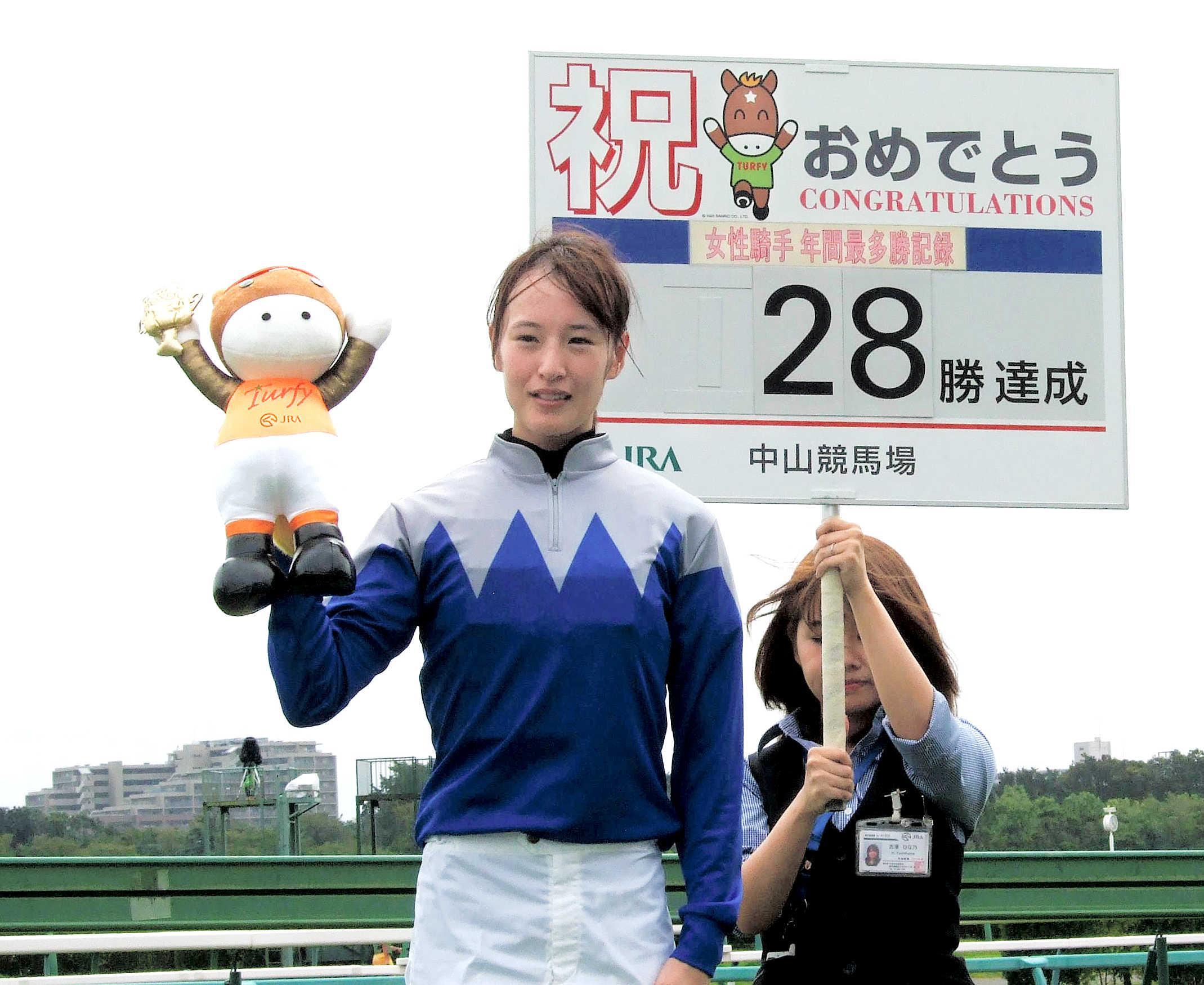 菜七子28勝 JRA女性騎手年間最多勝利記録を3年連続更新「毎年 ...