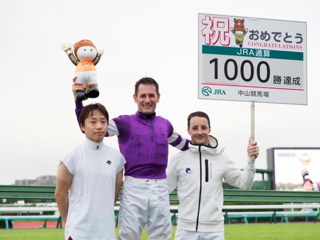 史上37人目のJRA通算1000勝を達成したM.デムーロ騎手(c)netkeiba.com、撮影:下野雄規