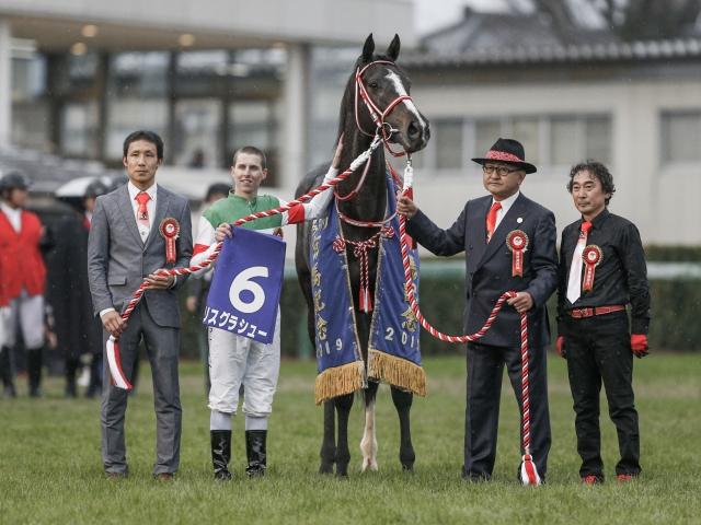 D.レーン騎手を背に有馬記念を勝利したリスグラシュー(c)netkeiba.com、撮影:下野雄規