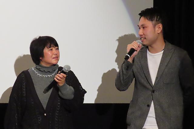 1月11日に行われたトークショーにて、佐々木祥恵さんと平林健一監督(C)netkeiba.com