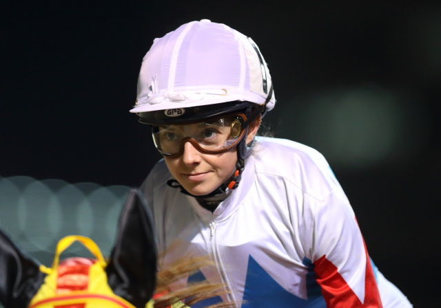 12日、船橋競馬場で騎乗したミカエル・ミシェル騎手(撮影:高橋正和)