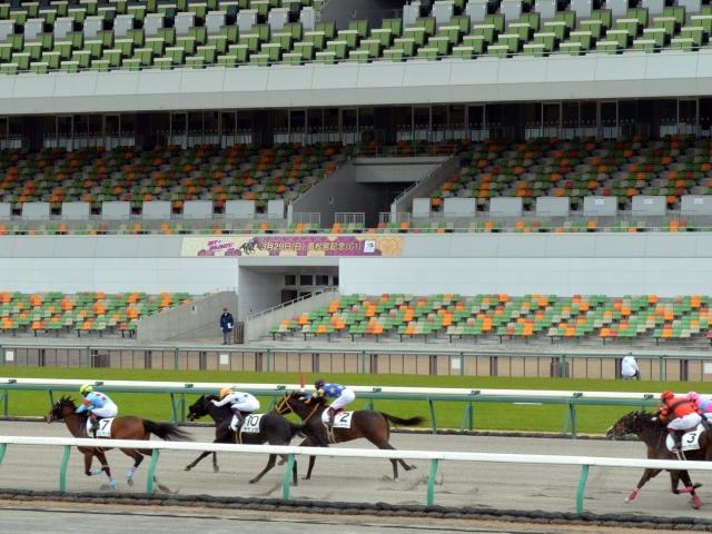 無観客でレースが行われる中京競馬