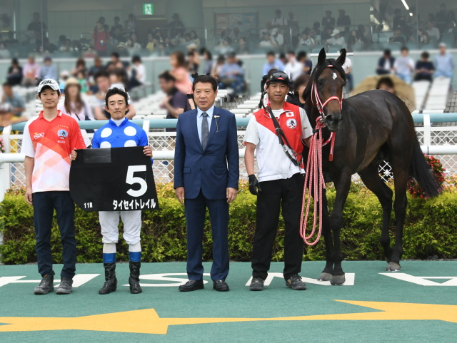 中谷雄太騎手が今週末の騎乗をもって引退(写真は矢作芳人厩舎のタイセイトレイルでの2019年グリーンS優勝時)